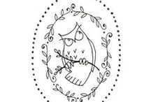 Stitch. To Do's. / Simple embroidery outlines, wanting to stitch up someday. Includes embroidery tips and tutorials.
