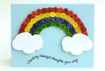 Button Rainbows / Rainbow art created using buttons.