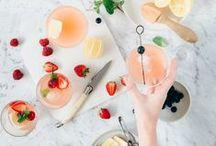 Pick your Poison / Drinks. Cocktails. Mocktails. Beautiful glassware. Bar carts.