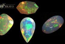 GEMS: oPALS ╰ ✦ ╮ / opals, ammolite / by ToxicMermaid