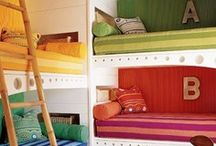 Kid Rooms / Shared bedrooms, bunk beds, and big family lifestyle