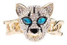 *♕ JEWELRY: wild animals / Tiger, lion, giraffe, elephant, fox, wolf, bear, koala, panda, deer, monkey / by ToxicMermaid
