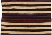 Native American / Textiles / Classic examples of Native American blankets and rugs. Sold at auction by, John Moran Auctioneers, Pasadena, CA