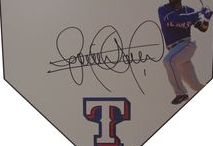 Texas Rangers Autographed Baseball Collectibles / Welcome to my selection of autographed Texas Rangers baseballs and more. We at Southwestconnection-Memorabilia offer a wide variety of autographed MLB collectibles including Baseballs, Bats, Batting Helmets, Bases, Pitching Rubbers and more!! Please check out my website: www.AutographedwithProof.com for additional autographed memorabilia, including MLB, NFL, NHL, NBA and more! All items include photographic proof of our encounter with the athlete to insure authenticity!