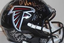 Atlanta Falcons Autographed Football Collectibles / Welcome to my selection of autographed Atlanta Falcons footballs & more. We at Southwestconnection-Memorabilia offer a wide variety of autographed NFL collectibles including Footballs, Full Size Helmets, Mini Helmets, Jerseys, Pylons & Lithos! Please check out my website: www.AutographedwithProof.com for additional autographed memorabilia, including MLB, NFL, NHL, NBA and more! All items include photographic proof of our encounter with the athlete to insure authenticity!