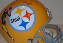 Pittsburgh Steelers Autographed Football Collectibles / Welcome to my selection of autographed Pittsburgh Steelers footballs & more. We at Southwestconnection-Memorabilia offer a wide variety of autographed NFL collectibles including Footballs, Full Size Helmets, Mini Helmets, Jerseys, Pylons & Lithos! Please check out my website: www.AutographedwithProof.com for additional autographed memorabilia, including MLB, NFL, NHL, NBA and more! All items include photographic proof of our encounter with the athlete to insure authenticity!