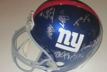 New York Giants Autographed Football Collectibles / Welcome to my selection of autographed New York Giants footballs & more. We at Southwestconnection-Memorabilia offer a wide variety of autographed NFL collectibles including Footballs, Full Size Helmets, Mini Helmets, Jerseys, Pylons & Lithos! Please check out my website: www.AutographedwithProof.com for additional autographed memorabilia, including MLB, NFL, NHL, NBA and more! All items include photographic proof of our encounter with the athlete to insure authenticity!