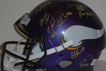 Minnesota Vikings Autographed Football Collectibles / Welcome to my selection of autographed Minnesota Vikings footballs & more. We at Southwestconnection-Memorabilia offer a wide variety of autographed NFL collectibles including Footballs, Full Size Helmets, Mini Helmets, Jerseys, Pylons & Lithos! Please check out my website: www.AutographedwithProof.com for additional autographed memorabilia, including MLB, NFL, NHL, NBA and more! All items include photographic proof of our encounter with the athlete to insure authenticity!