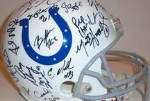 Indianapolis Colts Autographed Football Collectibles / Welcome to my selection of autographed Indianapolis Colts footballs & more. We at Southwestconnection-Memorabilia offer a wide variety of autographed NFL collectibles including Footballs, Full Size Helmets, Mini Helmets, Jerseys, Pylons & Lithos! Please check out my website: www.AutographedwithProof.com for additional autographed memorabilia, including MLB, NFL, NHL, NBA and more! All items include photographic proof of our encounter with the athlete to insure authenticity!