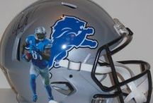 Detroit Lions Autographed Football Collectibles / Welcome to my selection of autographed Detroit Lions footballs & more. We at Southwestconnection-Memorabilia offer a wide variety of autographed NFL collectibles including Footballs, Full Size Helmets, Mini Helmets, Jerseys, Pylons & Lithos! Please check out my website: www.AutographedwithProof.com for additional autographed memorabilia, including MLB, NFL, NHL, NBA and more! All items include photographic proof of our encounter with the athlete to insure authenticity!