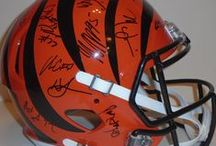 Cincinnati Bengals Autographed Football Collectibles / Welcome to my selection of autographed Cincinnati Bengals footballs & more. We at Southwestconnection-Memorabilia offer a wide variety of autographed NFL collectibles including Footballs, Full Size Helmets, Mini Helmets, Jerseys, Pylons & Lithos! Please check out my website: www.AutographedwithProof.com for additional autographed memorabilia, including MLB, NFL, NHL, NBA and more! All items include photographic proof of our encounter with the athlete to insure authenticity!
