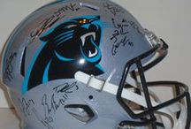 Carolina Panthers Autographed Football Collectibles / Welcome to my selection of autographed Carolina Panthers footballs & more. We at Southwestconnection-Memorabilia offer a wide variety of autographed NFL collectibles including Footballs, Full Size Helmets, Mini Helmets, Jerseys, Pylons & Lithos! Please check out my website: www.AutographedwithProof.com for additional autographed memorabilia, including MLB, NFL, NHL, NBA and more! All items include photographic proof of our encounter with the athlete to insure authenticity!