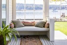 """Outdoor Rooms / Find inspiration for turning an outdoor area into your favorite """"room"""" in the house"""