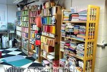 Sewing Studios / A collection of interesting sewing studio's, organizing solutions, and just plain eye candy.
