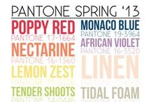 Spring 2013 Color Trends / Relaxing blues and greens, refreshing light tones, and revitalizing bright hues are on the horizon!