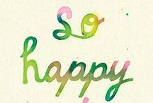 stay happy! / For us both.