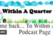 Within A Quarter Inch Podcast / Within A Quarter Inch Podcast is a Podcast for quilt: lovers, makers, dreamers, WIP'ers, piecers, appliquers, readers, and anything else producer, Allison Rosen, decides to include that day!