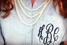 If it isn't monogrammed is it even really yours?  / by Kristin Cash