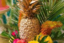 Tropical Brights Theme / Party styling ideas