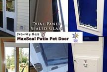 Temporary Pet Doors (Patio & Window Inserts) / Temporarily installed pet doors for patios and windows. Great dog door option for customers renting or looking for a pet door that does not require any screwing, drilling or permanent installation!