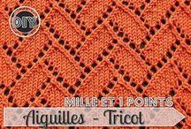 TriCoT PoiNTs / Tous les points/puntos/Stitchs en Tricot/Tejer/Knit