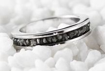 GREGORY G HALL / Personalized wedding bands, and engagement rings. Choose your own custom gemstones with your own personal hand stamped engravings in 925 sterling silver or 14k gold.