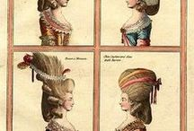 Hair & Hats / Historical hair and hat reference board.