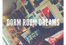 Dorm Room Dreams / Make your dorm room your home. Ideas for easy, cheap, and fun decorations and designs.