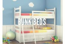 Bunk Beds / Bunk beds are perfect for children and maximizing space. Here are some design ideas a tips for changing the sheets.