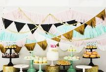 Chic Bébé Shower / We're styling up Heather's elegant, fashionable, and sweet baby shower with Parisian touches. Think shopping on Avenue des Champs-Élysées meets Sugar & Spice and Everything Nice!