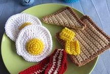 Crochet play food / making your own play food inspiration board