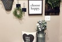 Home Decor Ideas / Home inspiration and home decor ideas. Inspiration for creating a peaceful, happy, and thriving space for you to call home. Home decor, home style, rustic chic home design and decor, home decor ideas, home decor tips, home decor diy, home decor on a budget.