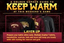 Game Day Prep / What do you need before you head out to cheer on your Golden Gophers? Decorations, recipes, nicknacks, crazy hats- all of the above, we think.  / by Minnesota Gophers