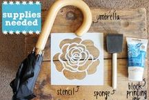 Stencil This / Stencils, how to make them & DIY them, in all possible methods & shapes