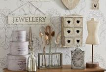 Shabby Chic & Pastels / Shabby chic, vintage, French romantic, pastels, & altered tins & bottles & cans.