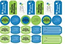 Free Printables! / Free Printable Gift Tags - great for cake pops, treat bags, gift baskets, cupcake toppers, etc. Enjoy! More free printables at http://blog.candiquik.com
