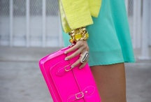 :: NEON :: / The Neon trend is still going strong on the catwalks and highstreets alike, with many fashionistas opting to encorporate a single neon staple into their outfit to avoid going overboard. / by StyleGlider