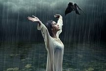 """Elemental Water, I call to you and invite you to join us... /  """"Ye Lords of the Watchtowers of the West, ye Lords of Water; I do summon, stir and call you up, to witness our rites and to guard our Circle In Love and Truth, we bid you Hail and Welcome!""""  / by Wicca Dreamers Creations"""
