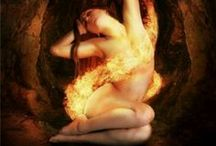 """Elemental Fire, I call to you and invite you to join us... / """"Ye Lords of the Watchtowers of the South, ye Lords of Fire; I do summon, stir and call you up, to witness our rites and to guard our Circle In Love and Truth, we bid you Hail and Welcome!""""  / by Wicca Dreamers Creations"""