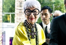 :: IRIS APFEL :: / With her statement glasses and necklaces, Iris Apfel is one stylish geriatric. Check out our favourite pics of the face of Mac cosmetics. / by StyleGlider