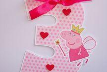 Peppa Pig Party / Amelia's 3rd Birthday ideas / by Kelly Wilson