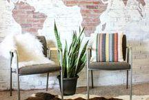Wall Design Inspiration / Wall design inspiration and ideas for the home, home decor, bedroom decor, living room decor.