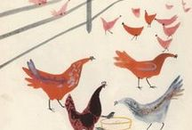 Chicken / A collection of chicken illustrations and photographs.