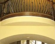 """Balcony Rims / With our balcony rims, also known as floor joist rims or Juliet balcony rims, you can be certain to get your radius floors just as you've planned.  Whether you want a simple soft radius bulge on your landing or a more complicated swooping """"S"""" pattern, we can simplify the construction process of getting your radius floors framed correctly.  https://www.archwaysandceilings.com/"""