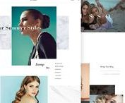 Web / Website designs and layouts. Strong layouts and interesting concepts.
