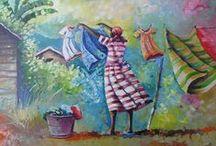 Laundry Art ~ Line Drying  / by Wanda Toney