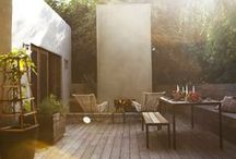 Outside space / ideas for creating a cozy and fun outdoor space to enjoy