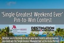'Single Greatest Weekend Ever' at the Aruba Marriott Resort & Stellaris Casino / Destination Weddings & Honeymoons has partnered with the Aruba Marriott Resort & Stellaris Casino to offer the Ultimate Bachelor/Bachelorette Party Experience! Entries were accepted through March 9th, 2015. This contest is now closed.