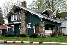 Dream Homes ~ Bungalows, Cotteges, & Craftsman Style Homes