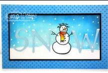 Handmade Cards For Winter / Handmade cards for the winter season that caught Polished Moxie's eye for all kinds of reasons. #HandmadeCard, #HomemadeCard, #HandcraftedCard, #Card, #CardIdea, #Winter, #Wintertime, #CardForWinter, #CardForWintertime, #HandmadeWinterCard, #WinterCard, #HandmadeWintertimeCard, #WintertimeCard